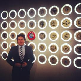 Allan Chamorro, socio de S23, en la UEFA