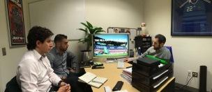 En las oficinas de MLS, USA.